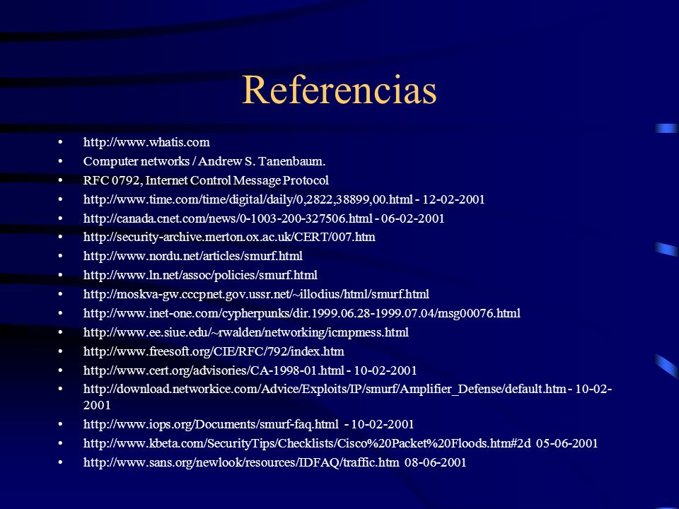 Referencias http://www.whatis.com