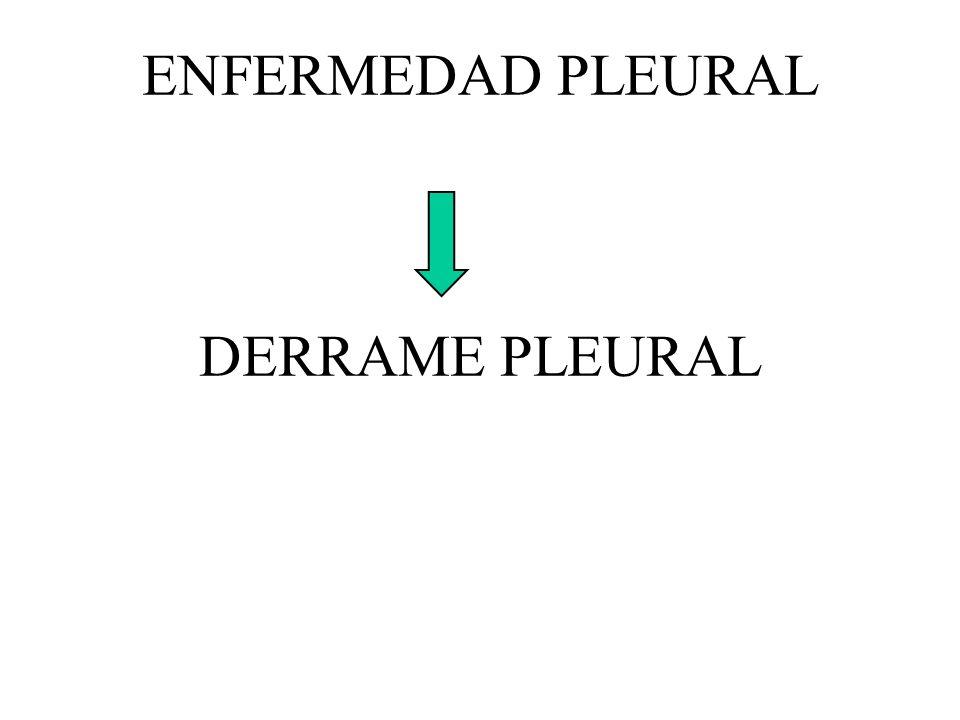ENFERMEDAD PLEURAL DERRAME PLEURAL