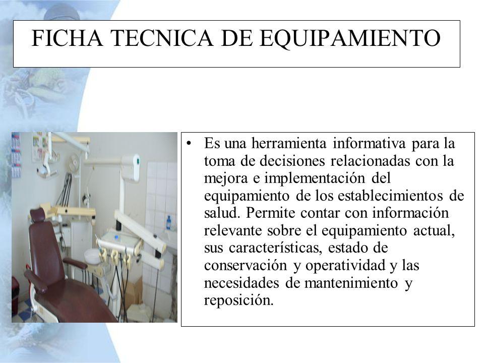 FICHA TECNICA DE EQUIPAMIENTO