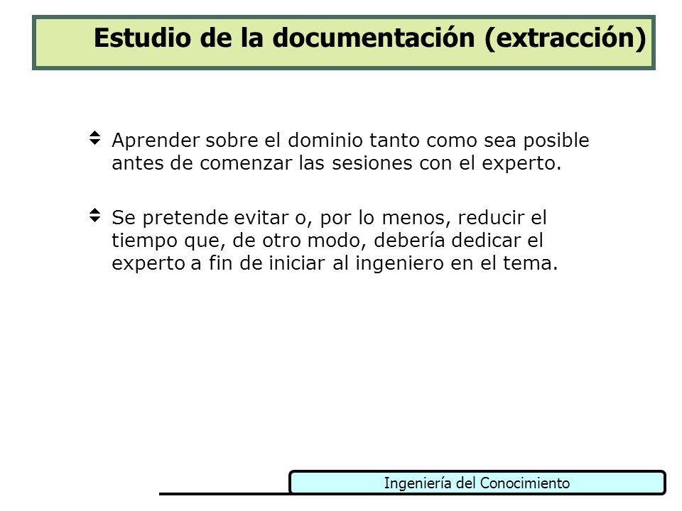 Estudio de la documentación (extracción)