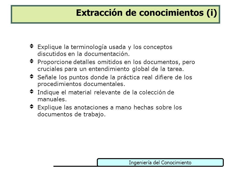 Extracción de conocimientos (i)