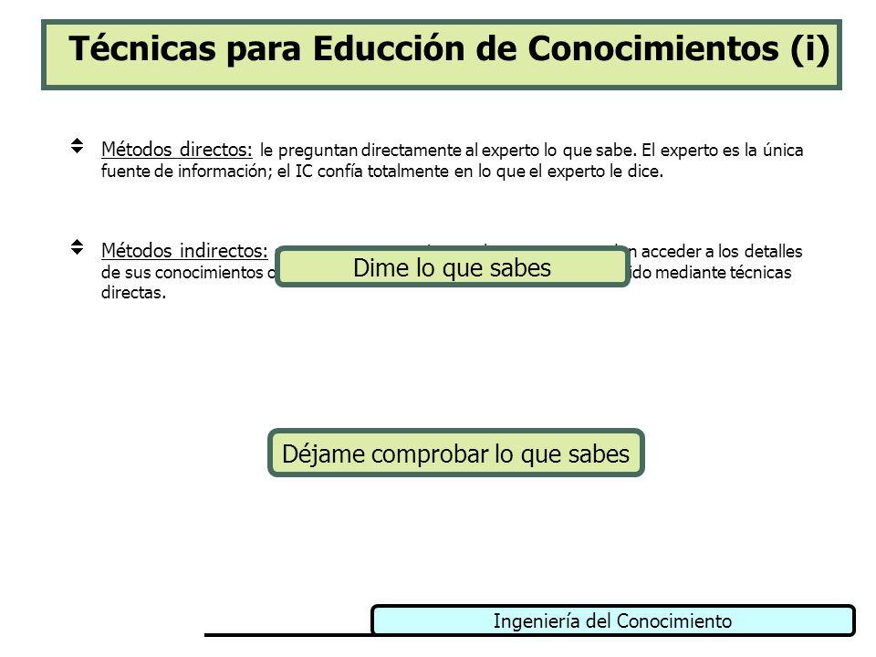 Técnicas para Educción de Conocimientos (i)