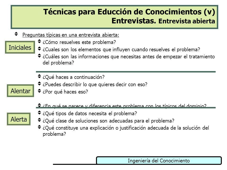 Técnicas para Educción de Conocimientos (v) Entrevistas