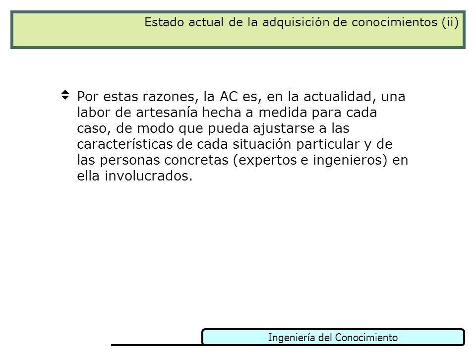 Estado actual de la adquisición de conocimientos (ii)