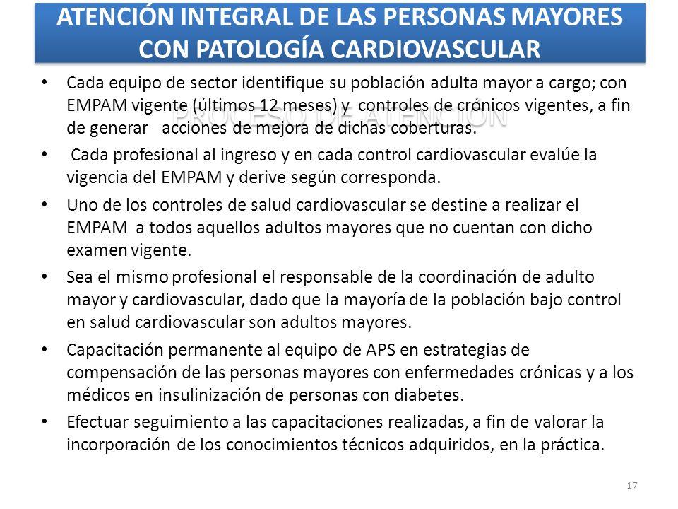 ATENCIÓN INTEGRAL DE LAS PERSONAS MAYORES CON PATOLOGÍA CARDIOVASCULAR PROCESO DE ATENCIÓN