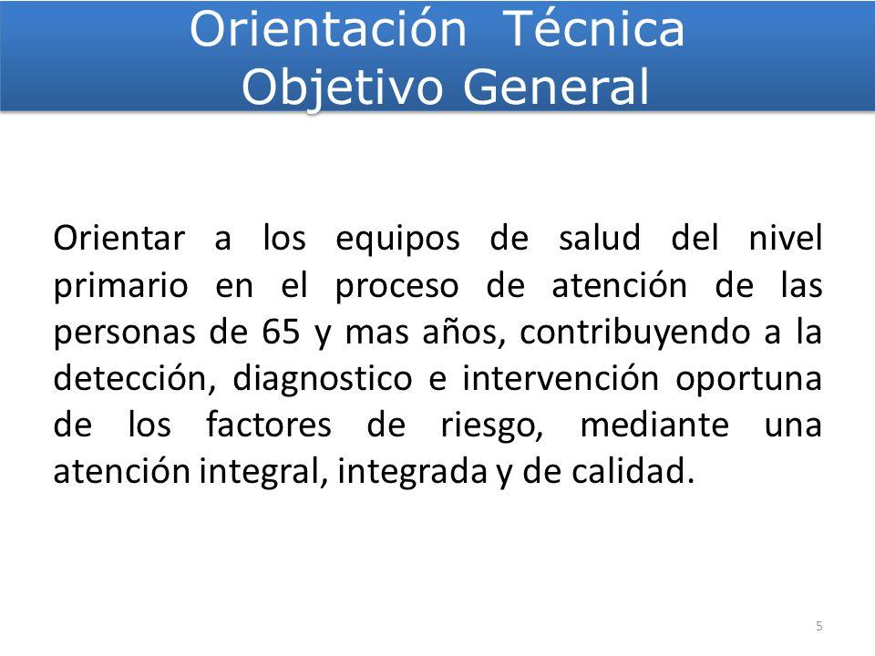 Orientación Técnica Objetivo General