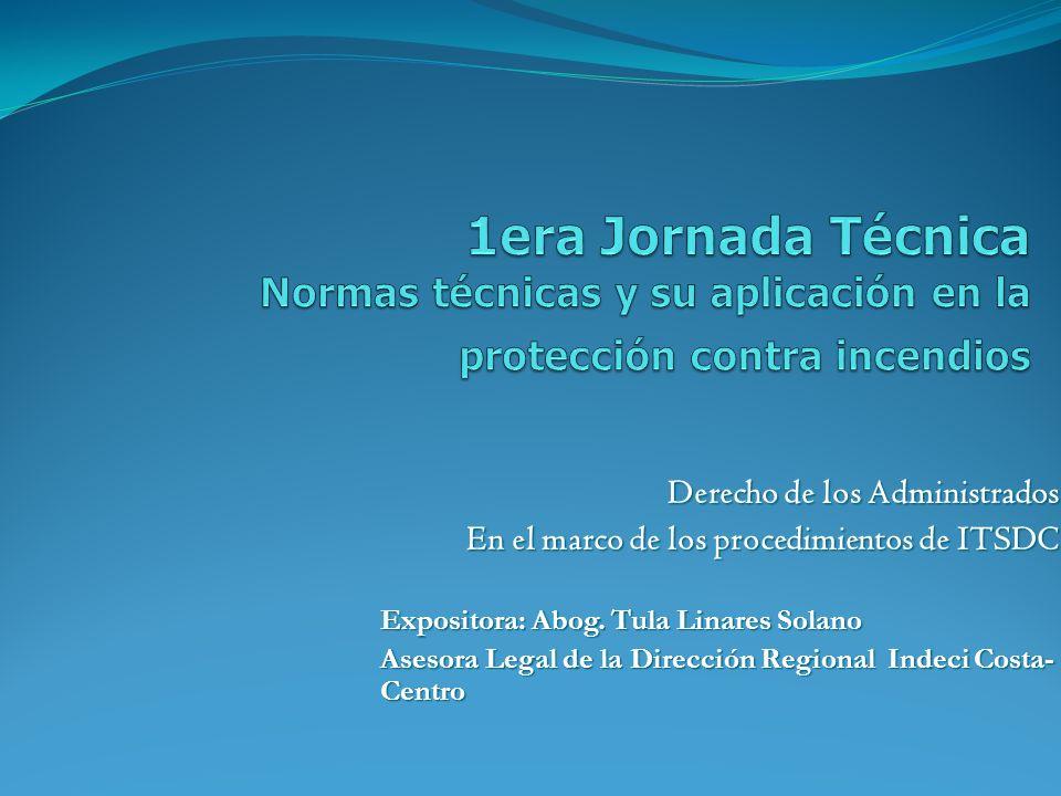 1era Jornada Técnica Normas técnicas y su aplicación en la protección contra incendios
