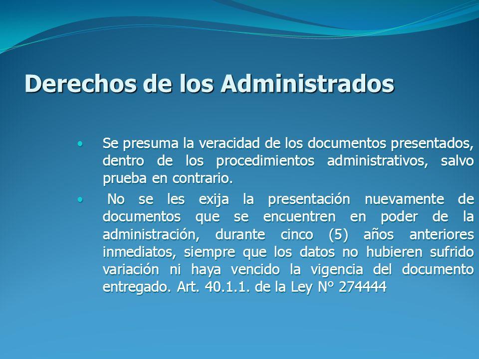 Derechos de los Administrados
