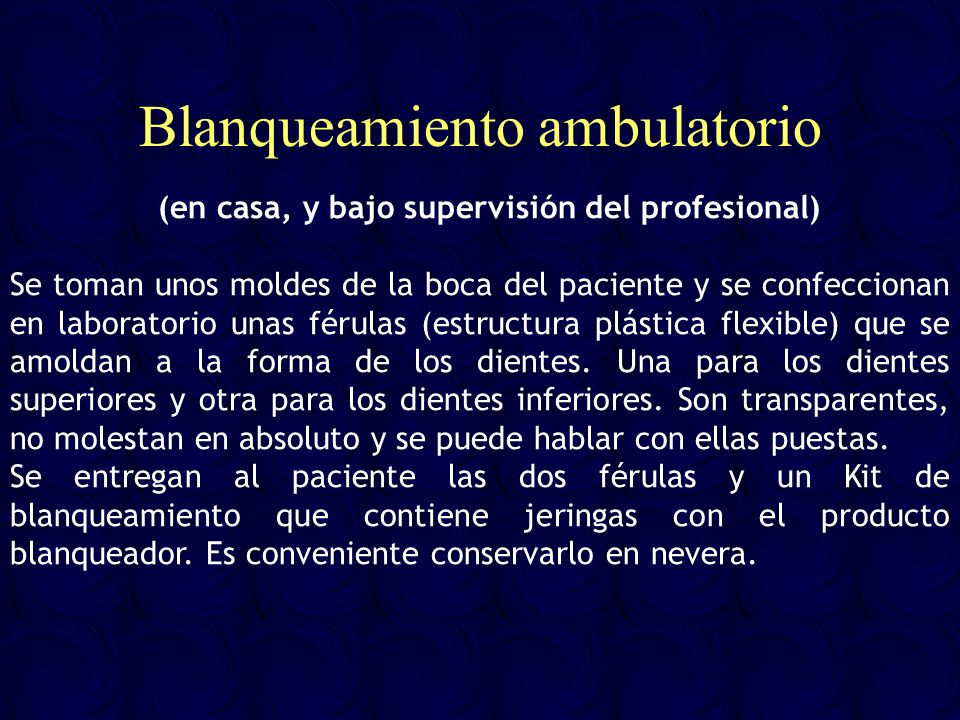 Blanqueamiento ambulatorio
