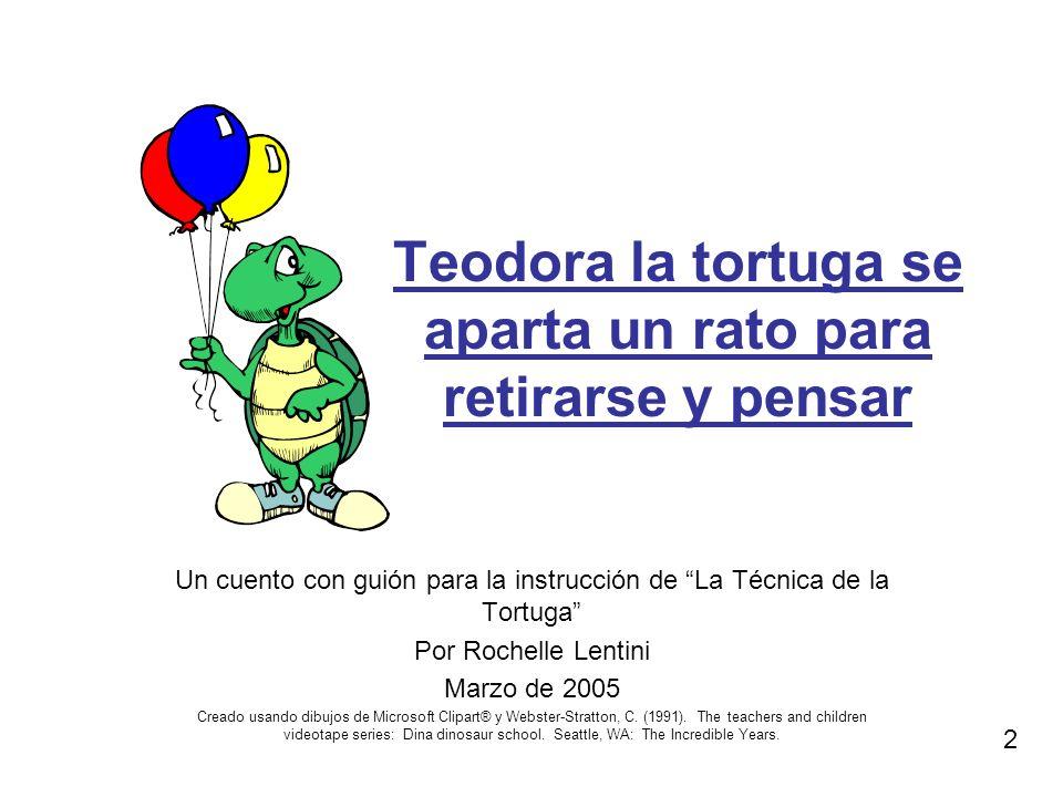 Teodora la tortuga se aparta un rato para retirarse y pensar