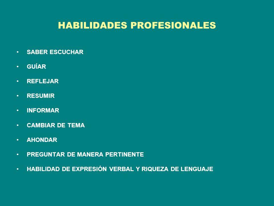 HABILIDADES PROFESIONALES