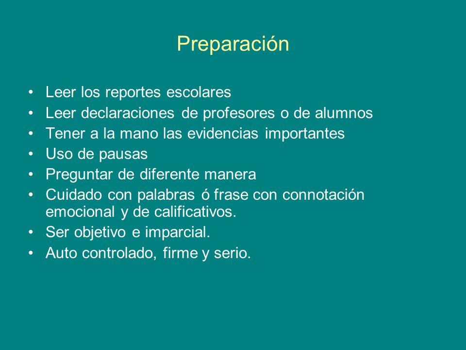 Preparación Leer los reportes escolares