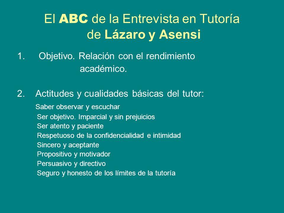 El ABC de la Entrevista en Tutoría de Lázaro y Asensi