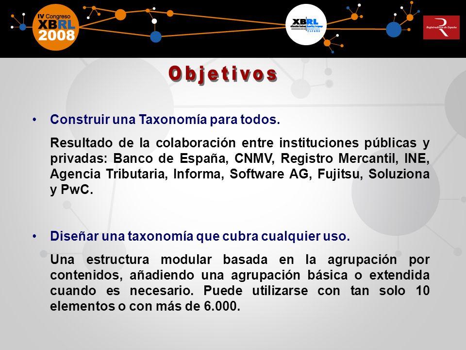 Objetivos Construir una Taxonomía para todos.