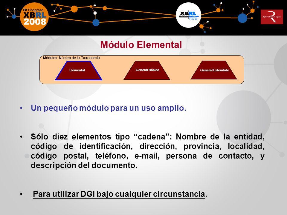 Módulo Elemental Un pequeño módulo para un uso amplio.