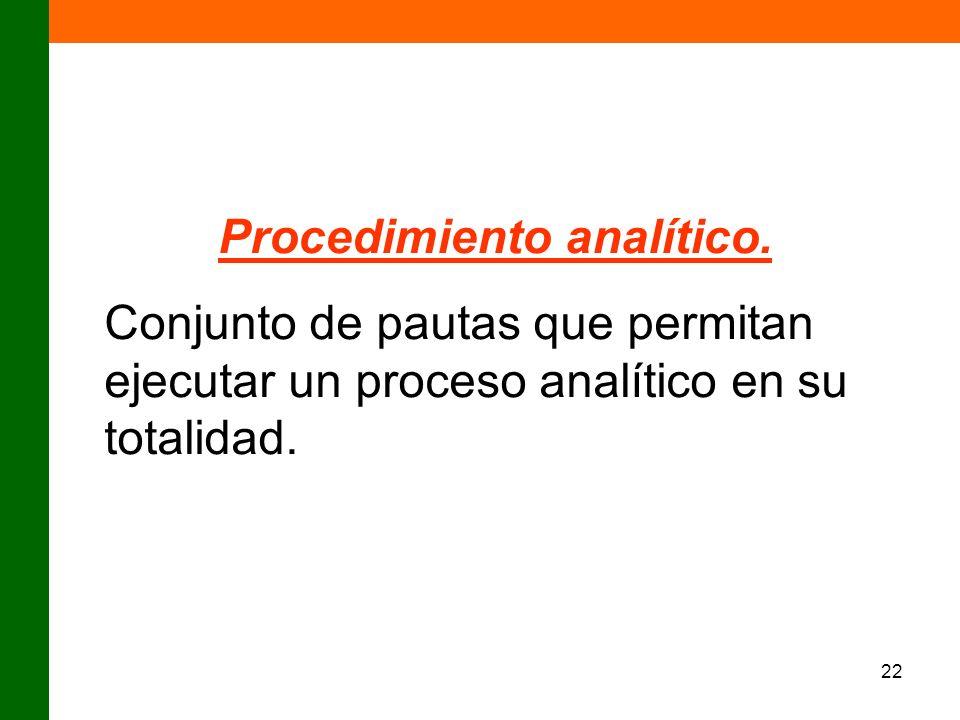 Procedimiento analítico.