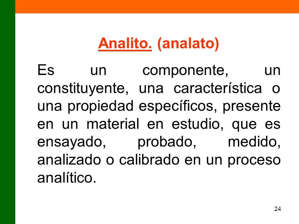 Analito. (analato)