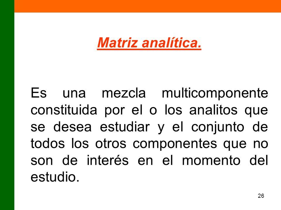 Matriz analítica.