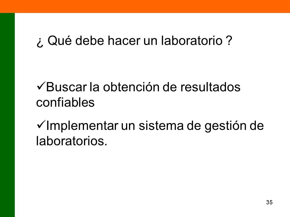 ¿ Qué debe hacer un laboratorio
