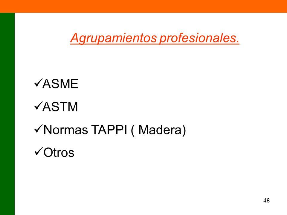 Agrupamientos profesionales.