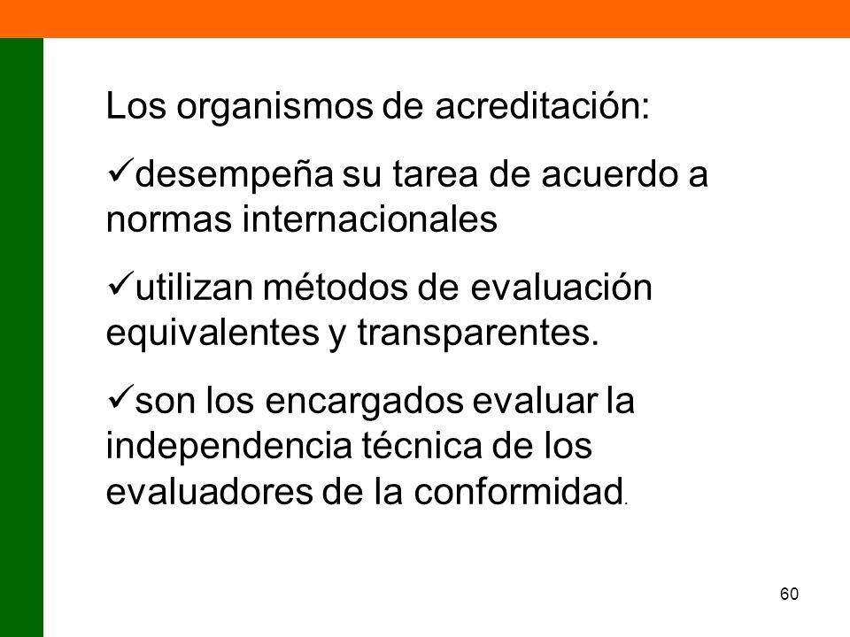 Los organismos de acreditación:
