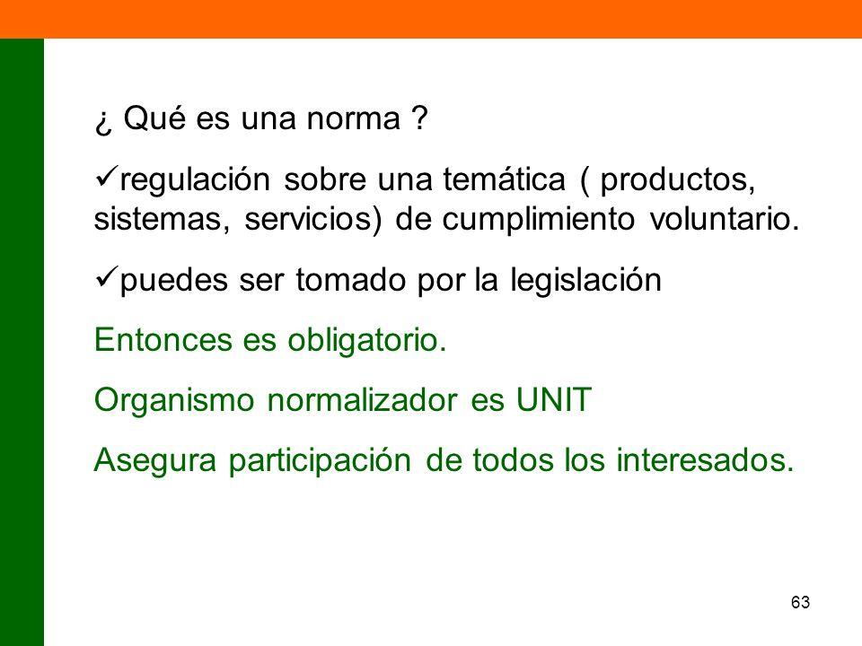 ¿ Qué es una norma regulación sobre una temática ( productos, sistemas, servicios) de cumplimiento voluntario.