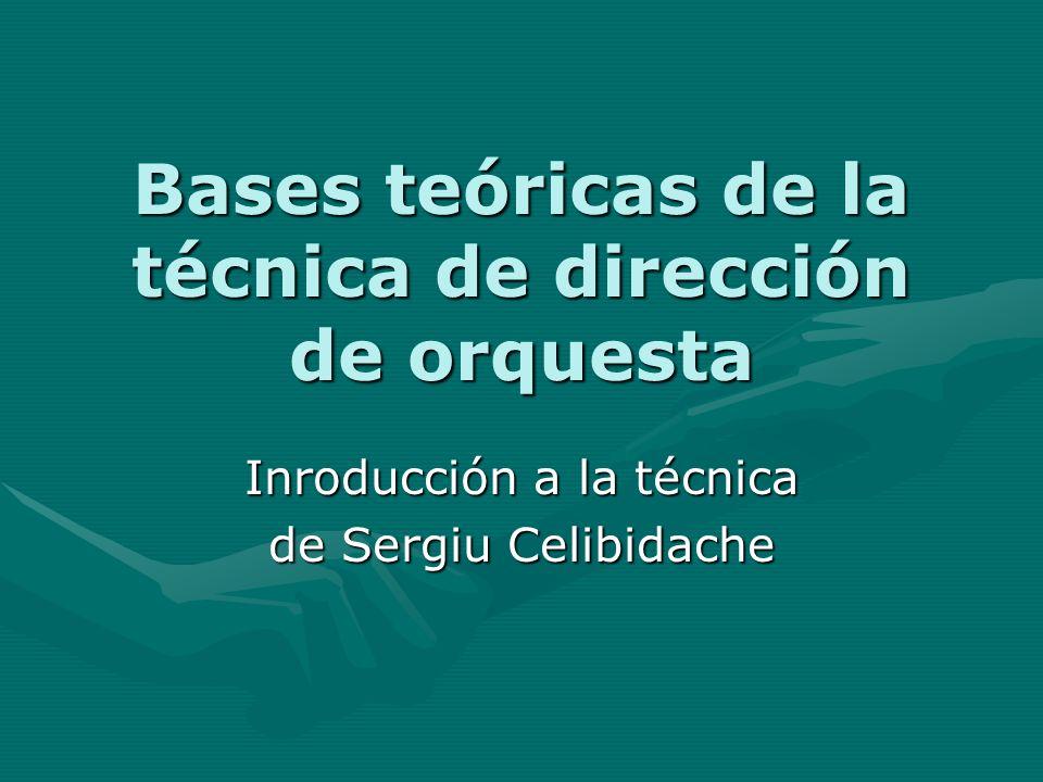 Bases teóricas de la técnica de dirección de orquesta