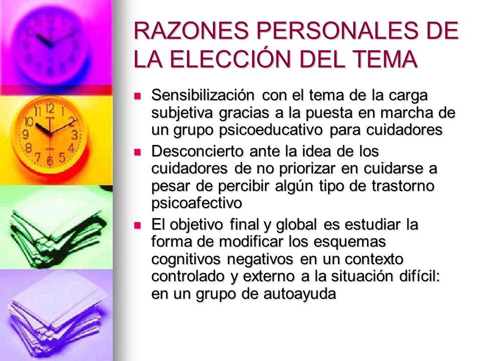 RAZONES PERSONALES DE LA ELECCIÓN DEL TEMA
