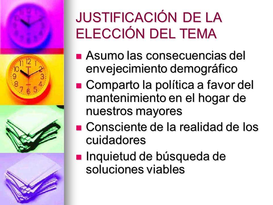 JUSTIFICACIÓN DE LA ELECCIÓN DEL TEMA