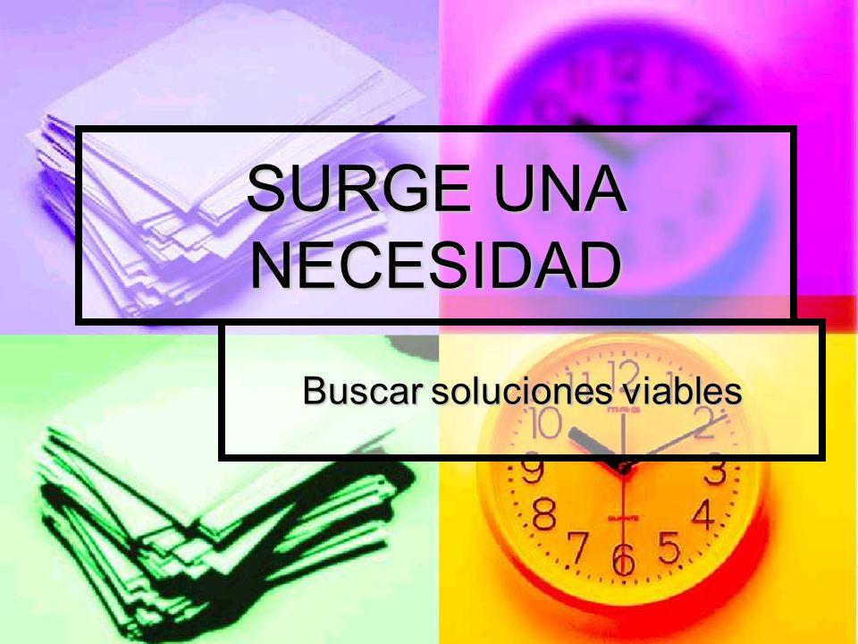 Buscar soluciones viables