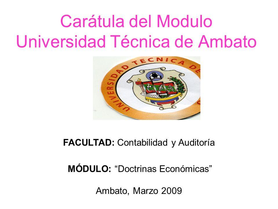 Carátula del Modulo Universidad Técnica de Ambato