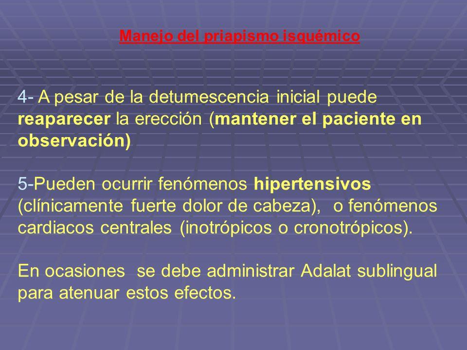 Manejo del priapismo isquémico