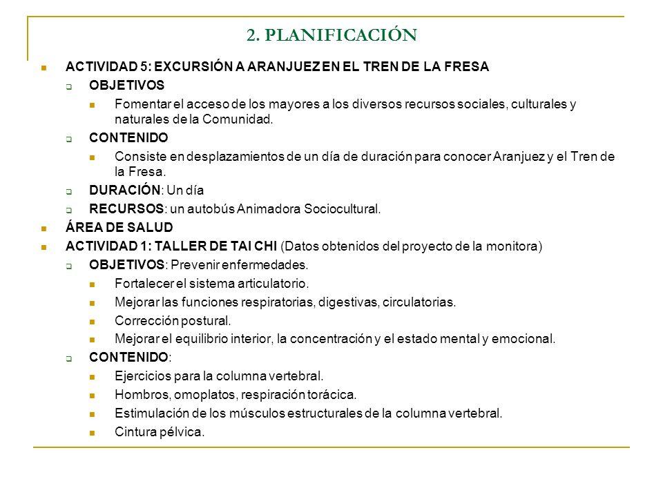 2. PLANIFICACIÓNACTIVIDAD 5: EXCURSIÓN A ARANJUEZ EN EL TREN DE LA FRESA. OBJETIVOS.
