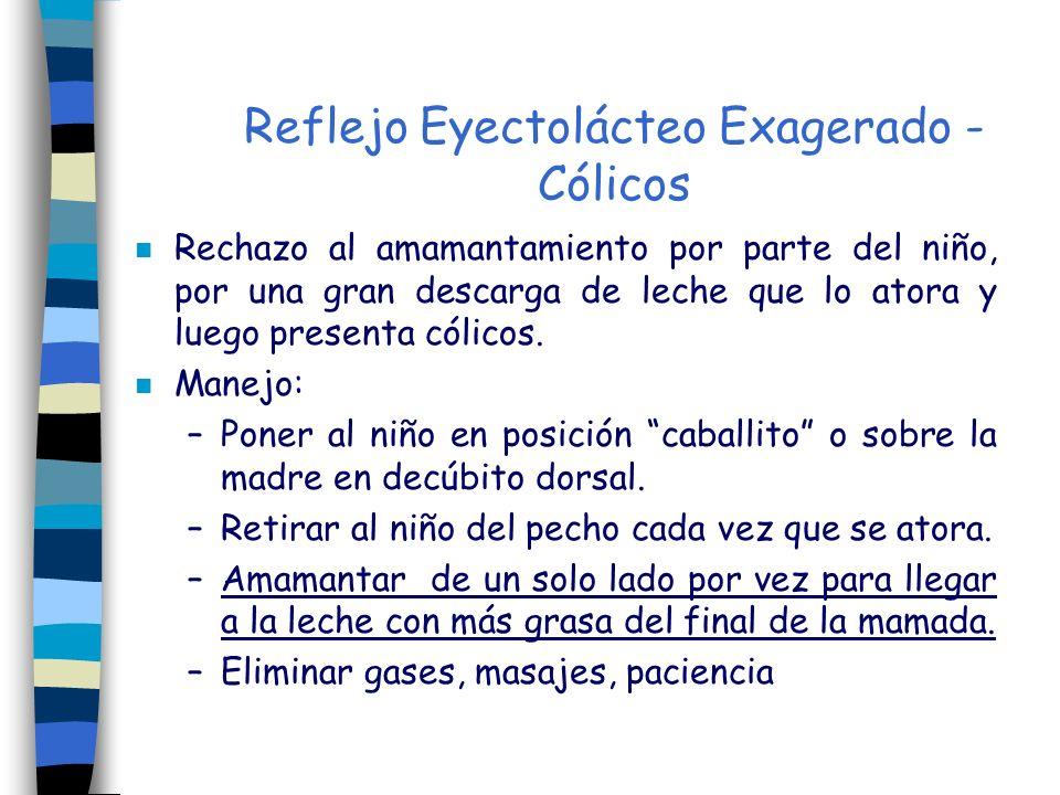 Reflejo Eyectolácteo Exagerado - Cólicos