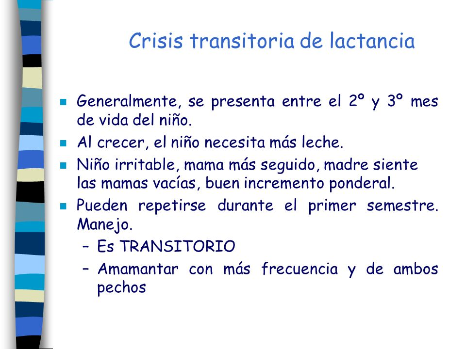 Crisis transitoria de lactancia