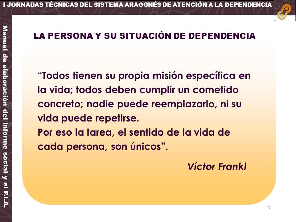 I JORNADAS TÉCNICAS DEL SISTEMA ARAGONÉS DE ATENCIÓN A LA DEPENDENCIA