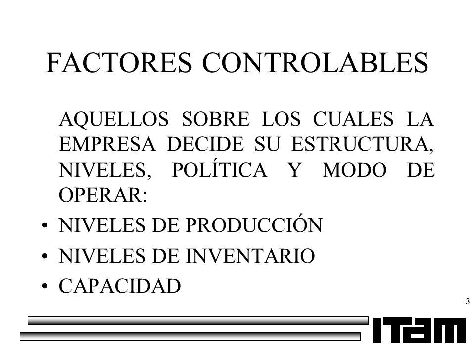 FACTORES CONTROLABLES