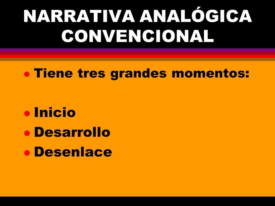 NARRATIVA ANALÓGICA CONVENCIONAL
