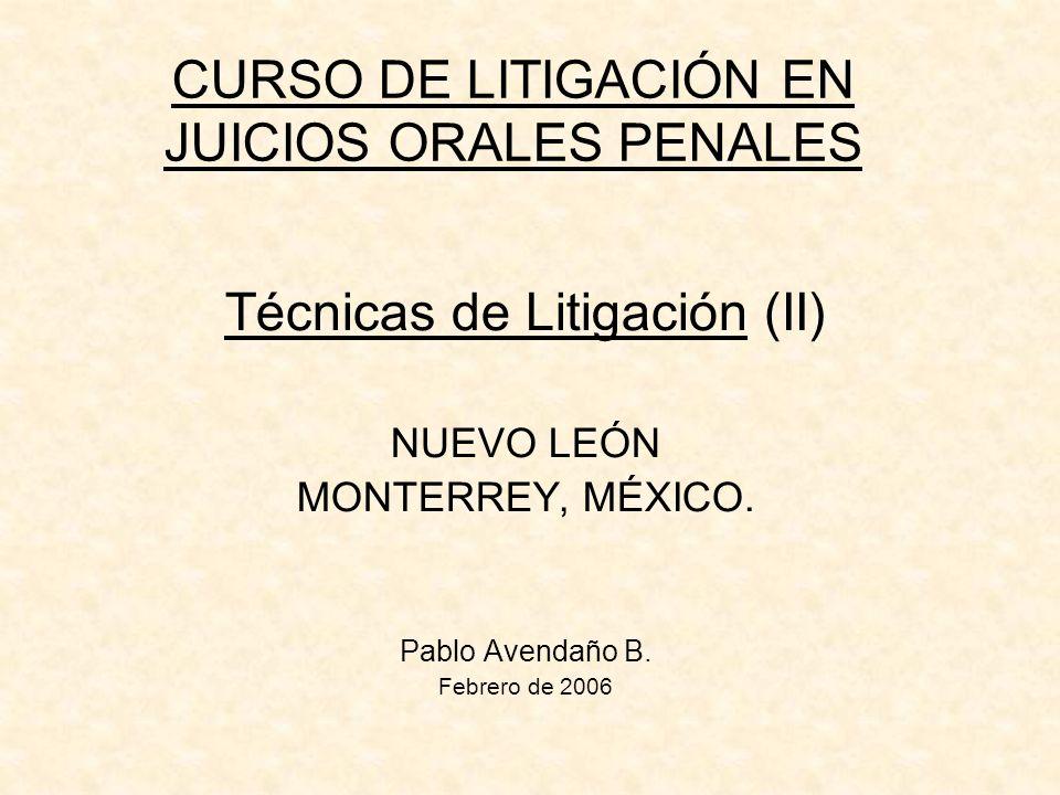 CURSO DE LITIGACIÓN EN JUICIOS ORALES PENALES