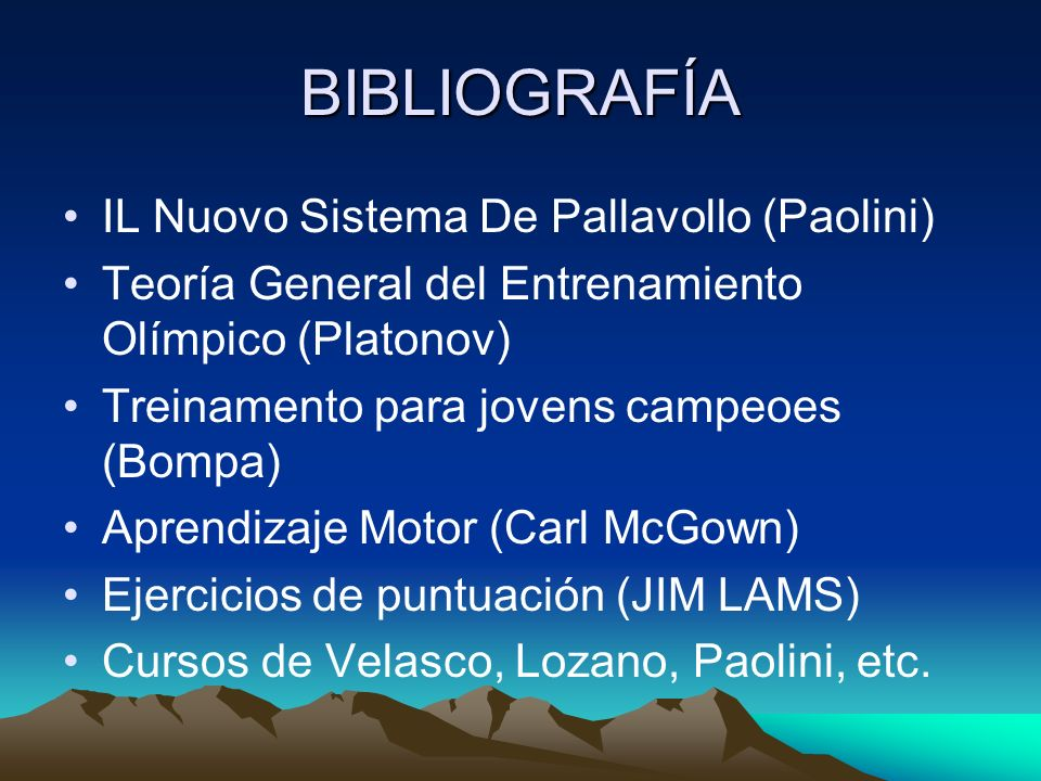 BIBLIOGRAFÍA IL Nuovo Sistema De Pallavollo (Paolini)