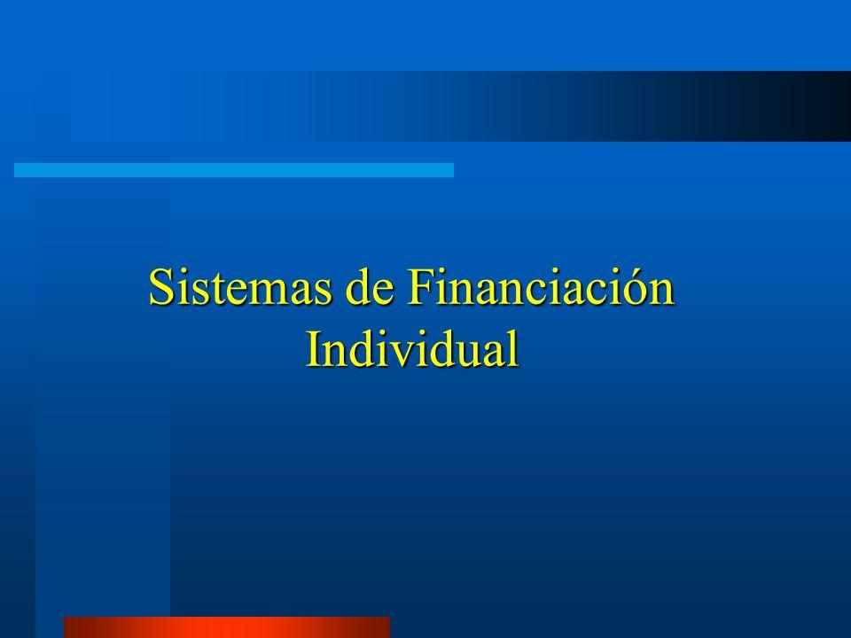 Sistemas de Financiación Individual