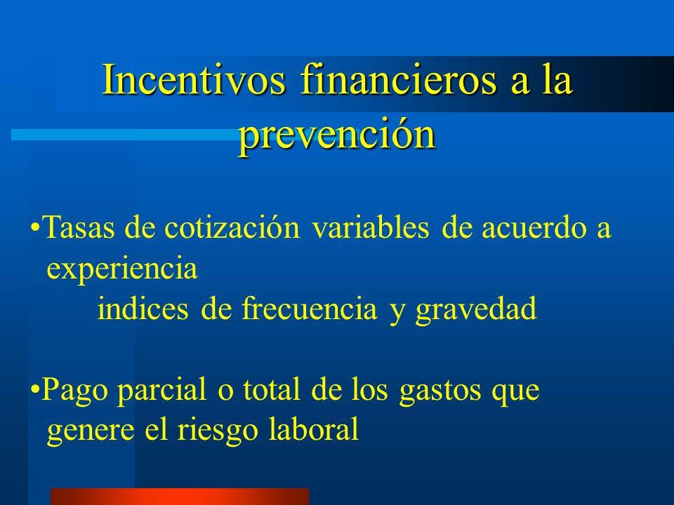 Incentivos financieros a la prevención