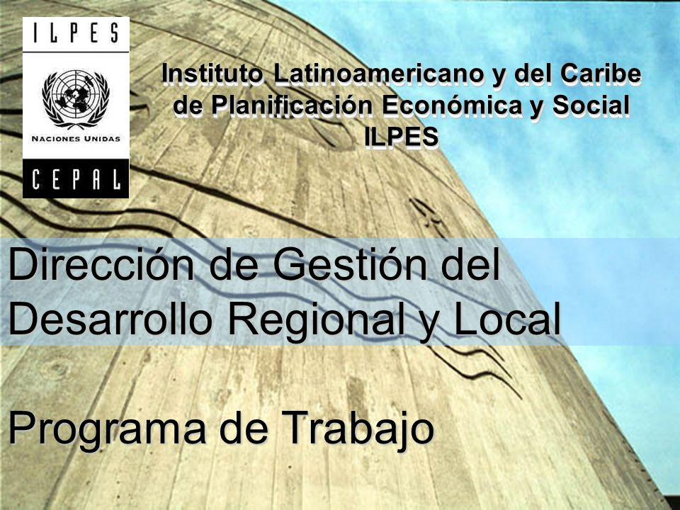 Dirección de Gestión del Desarrollo Regional y Local