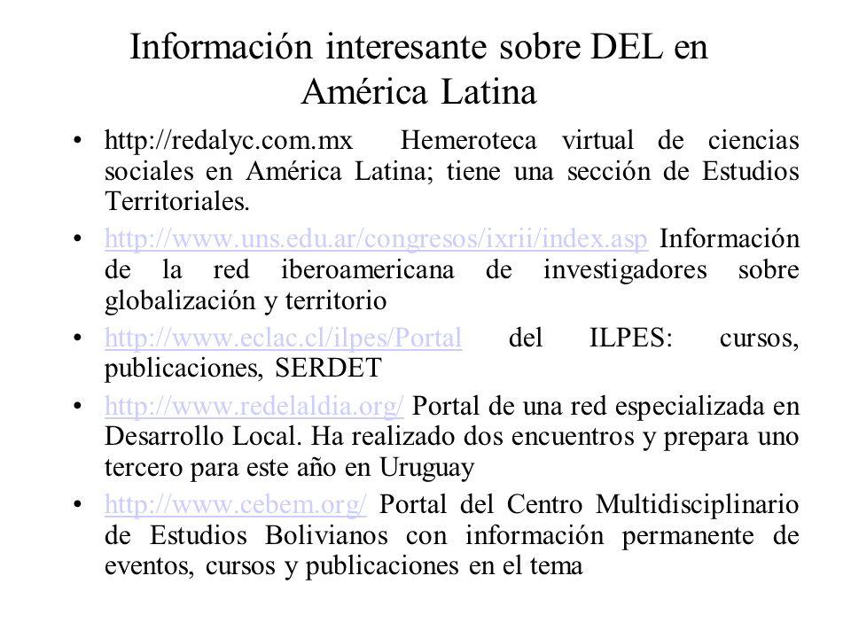 Información interesante sobre DEL en América Latina