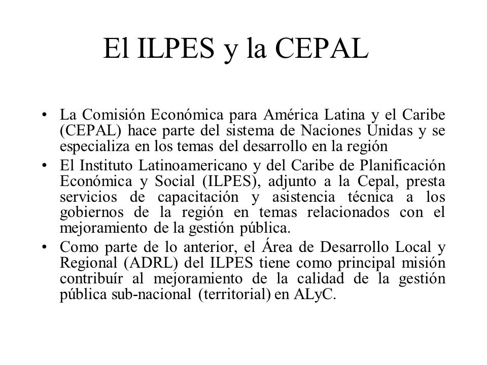 El ILPES y la CEPAL