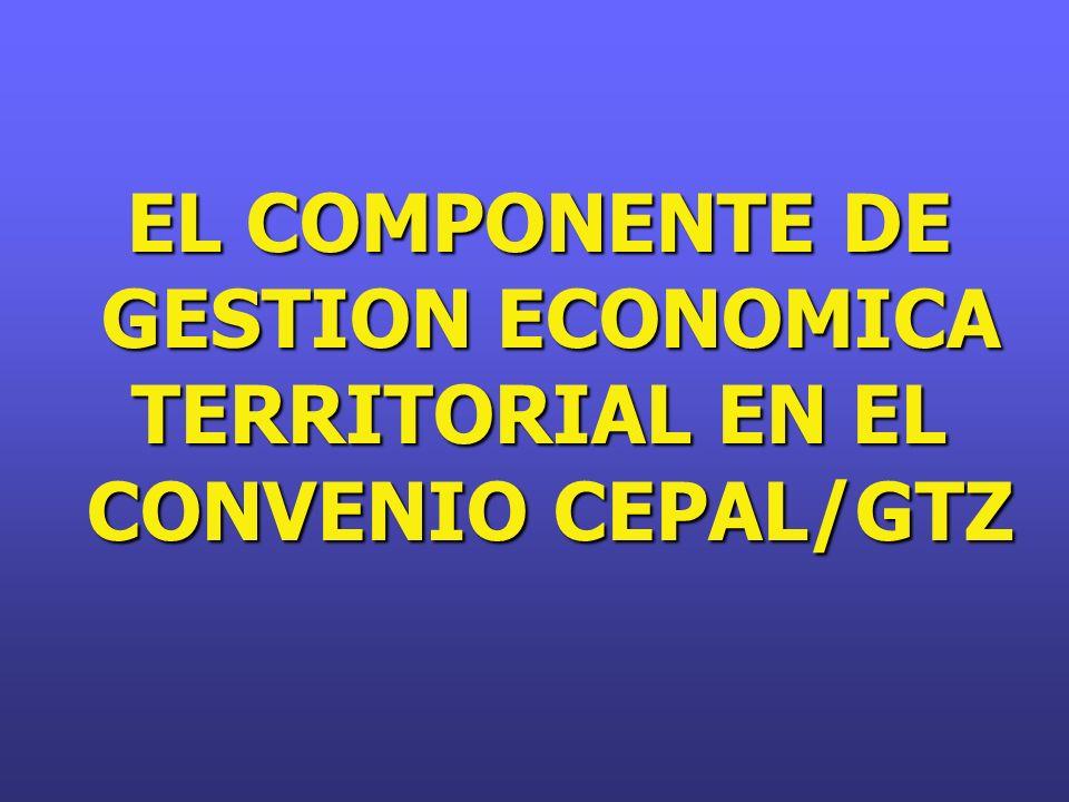 GESTION ECONOMICA TERRITORIAL EN EL
