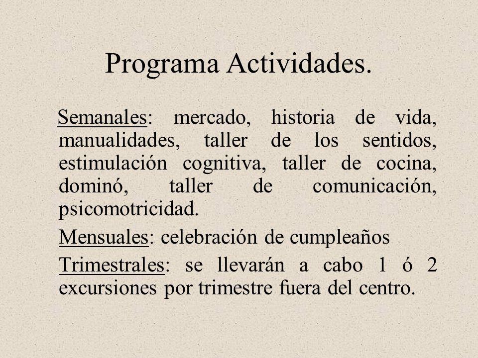Programa Actividades.