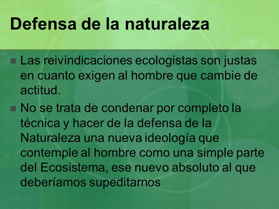 Defensa de la naturaleza