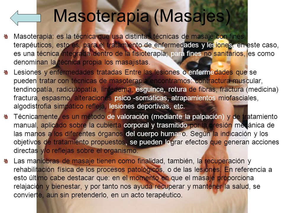 Masoterapia (Masajes)