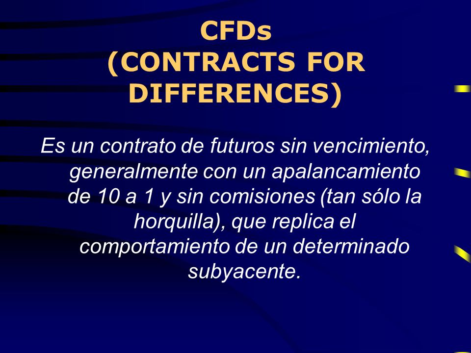 CFDs (CONTRACTS FOR DIFFERENCES)